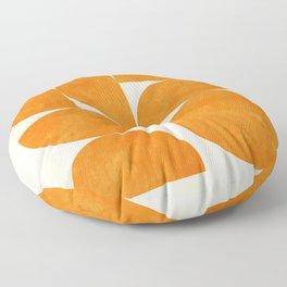 Geometric Shapes orange mid century Floor Pillow