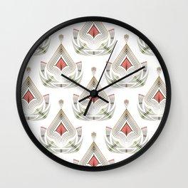 Geometric pattern . Colorful art Deco . No. 60, Wall Clock
