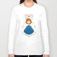 nausicaa Long Sleeve T-shirts featuring Wind Valley by Ashley Hay
