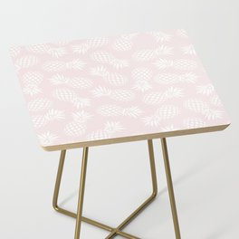 Pineapple pattern on pink 022 Side Table