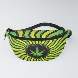 Marijuana energy   Sacred geometry mandala Fanny Pack