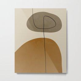 Organic Abstract Shapes #2 Metal Print