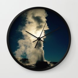 Another Geyser in the Sun Wall Clock