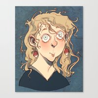 luna lovegood Canvas Prints featuring Luna Lovegood by Naïs Quin