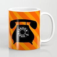 telephone Mugs featuring telephone by vitamin