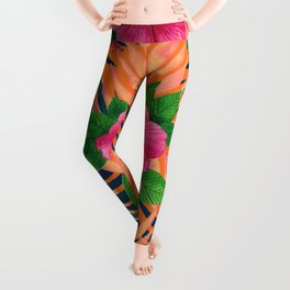 Hibiscus Tropical pattern Leggings