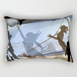 Anyone For Volleyball? Rectangular Pillow