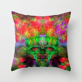 The Flower King Throw Pillow