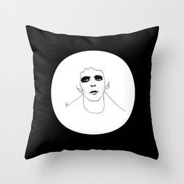 Lou Reed B & W Throw Pillow