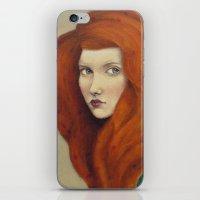 flora iPhone & iPod Skins featuring Flora by Sofia Bonati