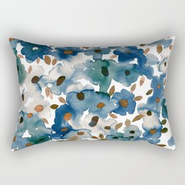 Georgia Floral Blue Rectangular Pillow