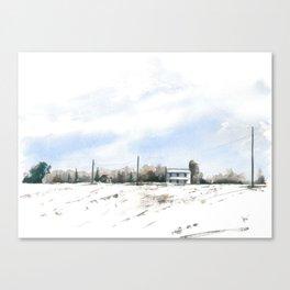 Randolph Farm In Winter #1 Canvas Print