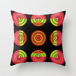 Circle # 3 squared Throw Pillow