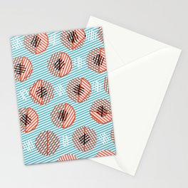 Circle Bubble Line print Stationery Cards