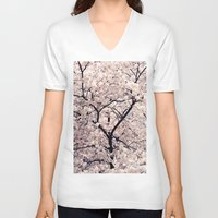 cherry blossom V-neck T-shirts featuring Cherry Blossom * by Neon Wildlife