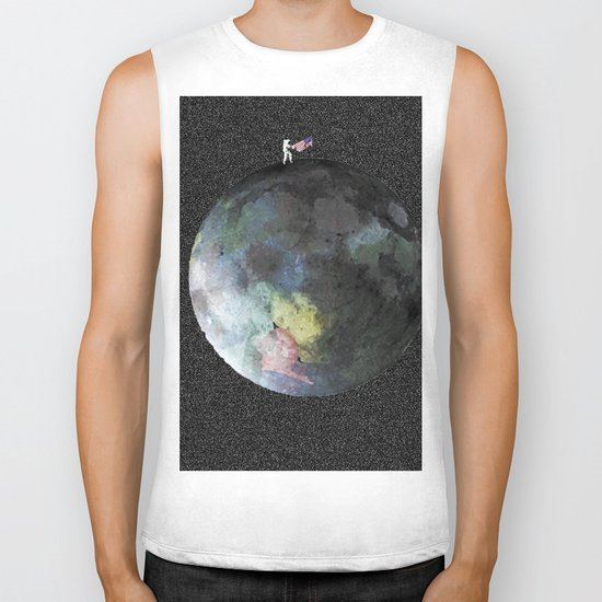 Man on the Moon Biker Tank