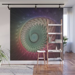 Abstract And Colorful Snail, Fractal Art Wall Mural