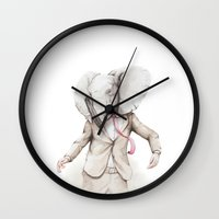 hiphop Wall Clocks featuring Elephant Dance by Moose van Papendorp
