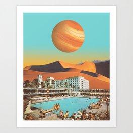 Hotel Postcard Art Print