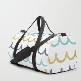 Golden Pastel Waves Duffle Bag