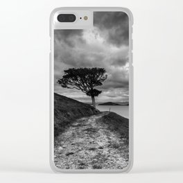 Alone on the Edge Clear iPhone Case