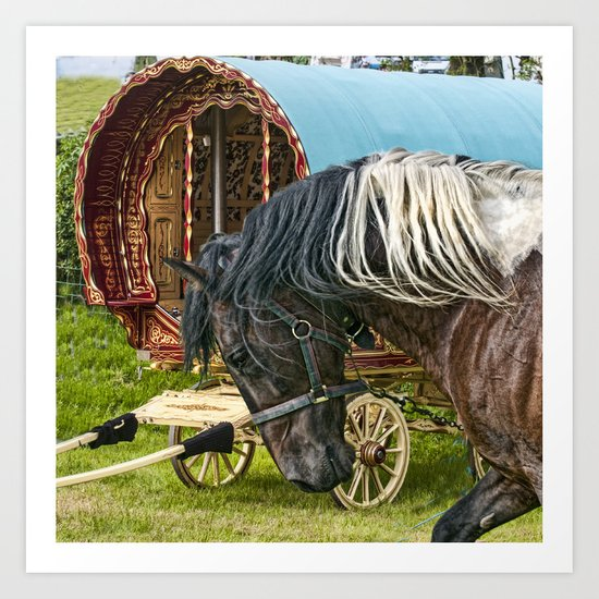 Gypsy Horse Fair Art Print