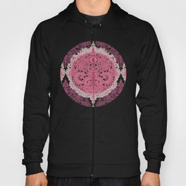 Happy Place Doodle in Berry Pink, Cream & Mauve Hoody