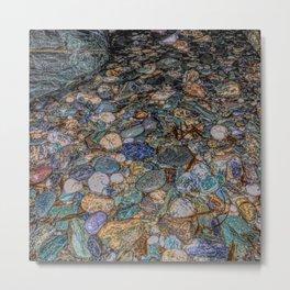 Merlin's cave pebbles Metal Print