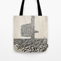 borderlands Tote Bags featuring Borderlands by Andre Rocha Illustration
