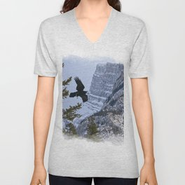 Mt Rundle & Raven (Canadian Rockies) Unisex V-Neck