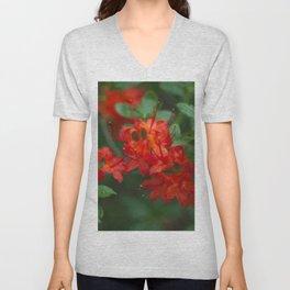 Floral Print 059 Unisex V-Neck