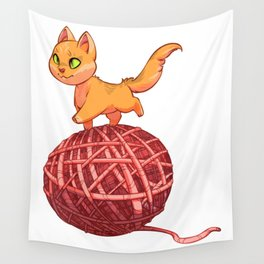 Kitten On Yan Wall Tapestry