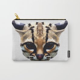 Low Poly Margay Cat Illustration Carry-All Pouch