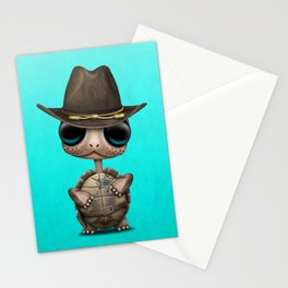 Cute Baby Turtle Sheriff Stationery Cards