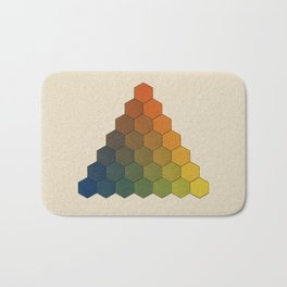 Lichtenberg-Mayer Colour Triangle (Opera inedita - Vol. I, plate III), 1775, Remake, vintage wash Bath Mat