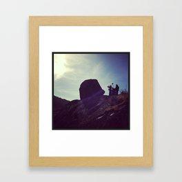 filming obstacles Framed Art Print