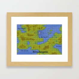 Terra Incognita Framed Art Print