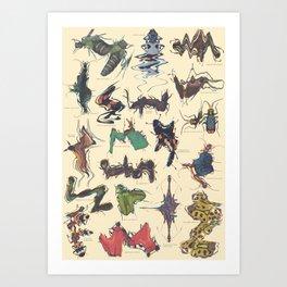 Skewed Beetles Art Print