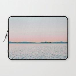 Pink, Blue, Landscape, Water, Nature, Modern art, Scandinavian, Art, Minimal, Wall art Laptop Sleeve