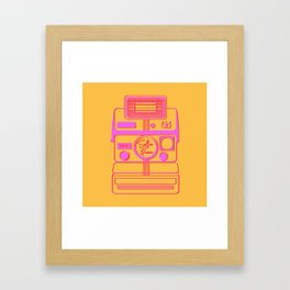 Retro Instant Camera - Selfie Queen Vector Illustration Framed Art Print
