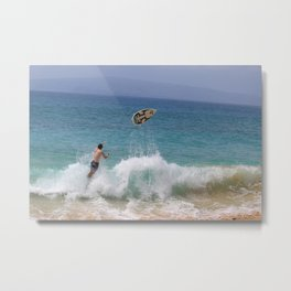 No Board, No Problem Metal Print