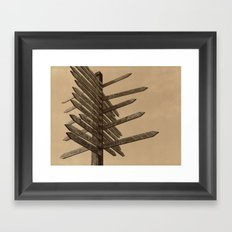 Chocolate Signpost Polaroid Framed Art Print