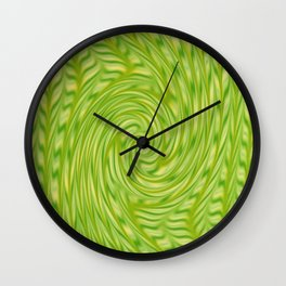 Lime swirl Wall Clock