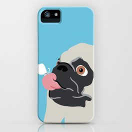 Pug Butterfly Flat Graphic iPhone Case