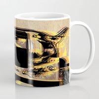 gun Mugs featuring gun by mark ashkenazi