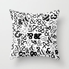 Ampersands on Ampersands Throw Pillow