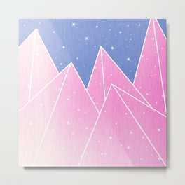 Sparkly Pink Crystals Design Metal Print