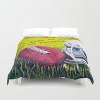 football Duvet Covers featuring Football by A Calcines