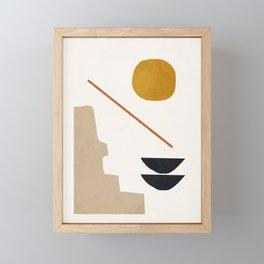 abstract minimal 6 Framed Mini Art Print