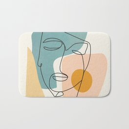 Abstract Face 25 Bath Mat